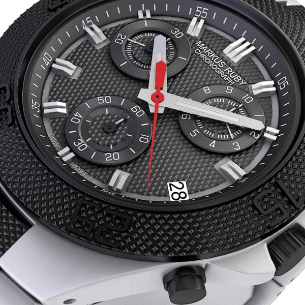 Markus Ruby Chronograph Two Tone Steel -30