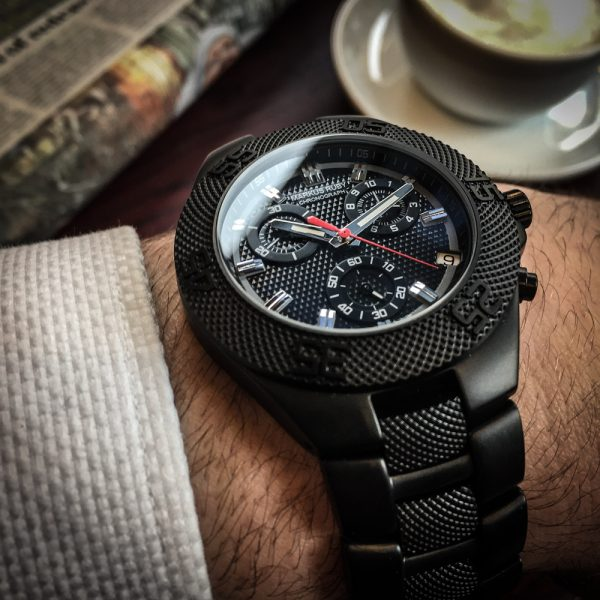 Markus Ruby Chronograph Black Steel -138