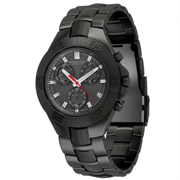 Markus Ruby Chronograph Black Steel -101