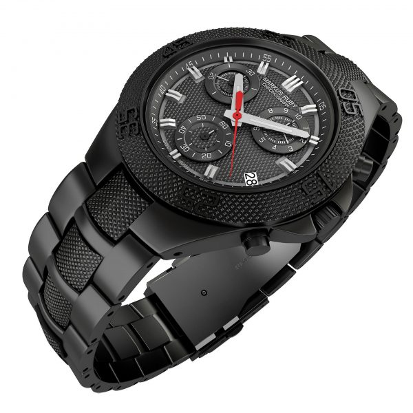 Markus Ruby Chronograph Black Steel -102