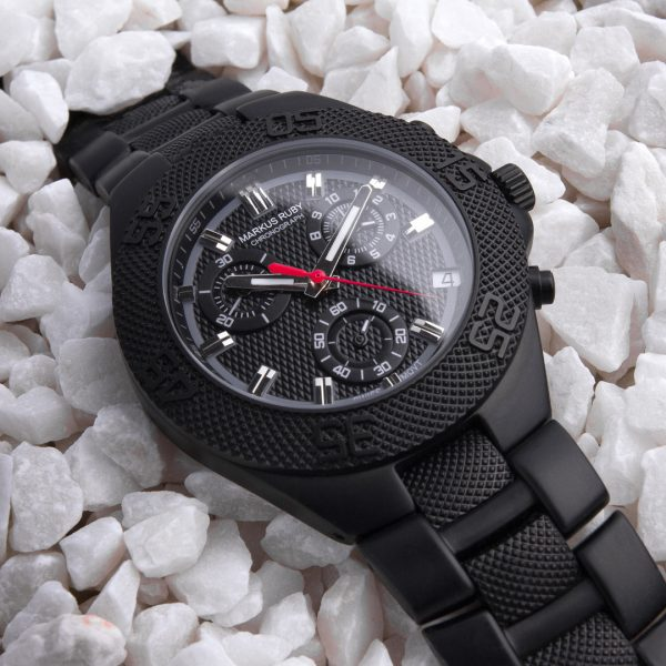 Markus Ruby Chronograph Black Steel -291