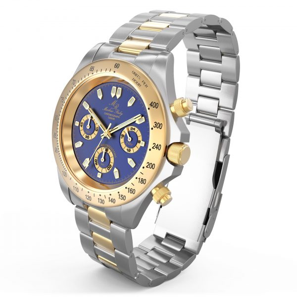 Dakar Chronograph Two Tone Blue Dial-297