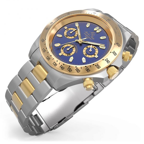 Dakar Chronograph Two Tone Blue Dial-298