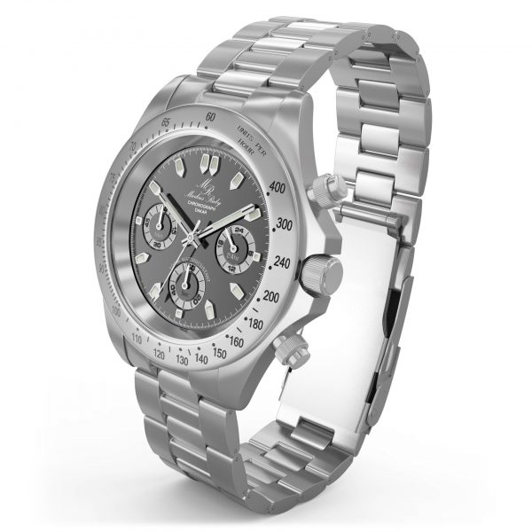 Dakar Chronograph Steel Black Dial-43