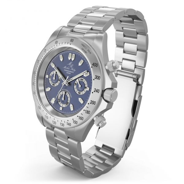 Dakar Chronograph Steel Blue Dial-121
