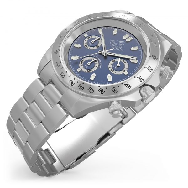 Dakar Chronograph Steel Blue Dial-122