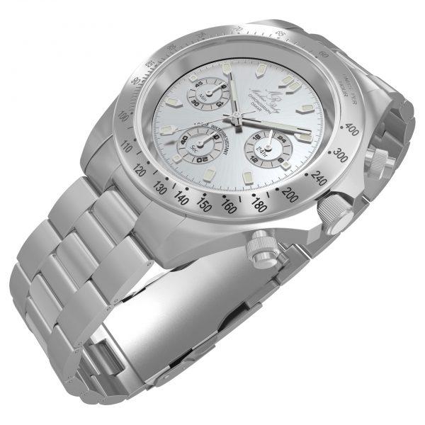 Dakar Chronograph Steel Silver Dial-55