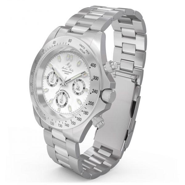 Dakar Chronograph Steel White Dial-47