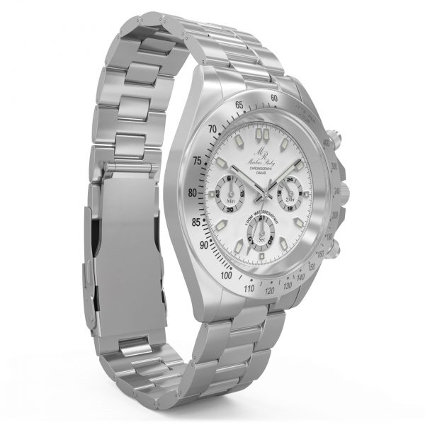 Dakar Chronograph Steel White Dial-48