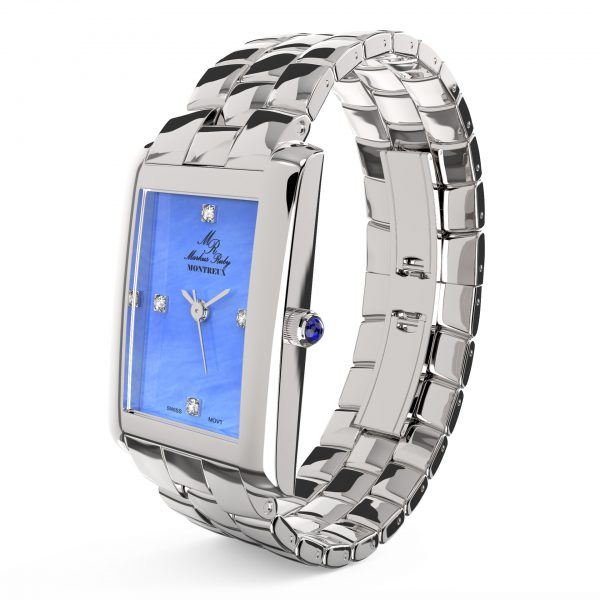 Montreux Diamond Lady Blue Mother Of Pearl Dial-182