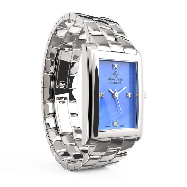 Montreux Diamond Lady Blue Mother Of Pearl Dial-181