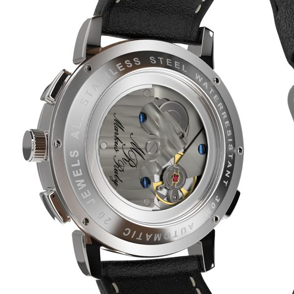 Moonphase Automatic Black Leather Black Dial-220